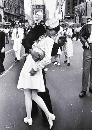 O dia da Vitória sobre o Japão - na Times Square, EUA, em 14 de agosto de 1945